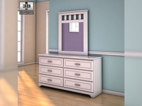 Ashley Lulu Dresser & Mirror 3D Model