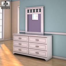 Ashley Lulu Dresser & Mirror 3D Model