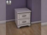 Ashley Lulu Nightstand 3D Model