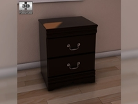Ashley Huey Vineyard Nightstand 3D Model