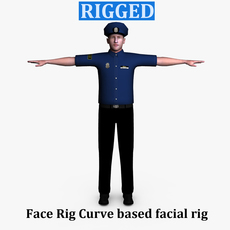Police Male 01 3D Model
