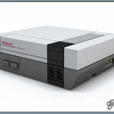 NES console only 3D Model