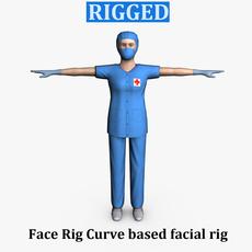 Surgeon Female 01 3D Model