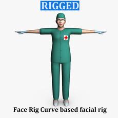Surgeon Female 02 3D Model