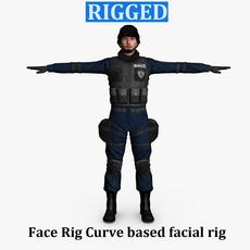 Swat Male 01 3D Model