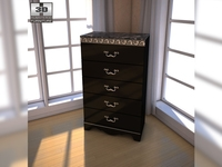 Ashley Constellations Chest 3D Model