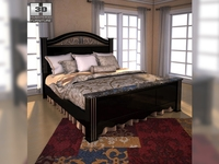 Ashley Constellations King Poster Bed 3D Model