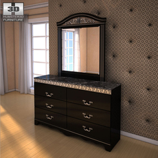 Ashley Constellations Dresser & Mirror 3D Model
