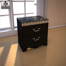 Ashley Constellations Nightstand 3D Model