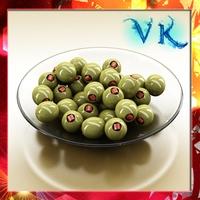 Olives Plate 3D Model