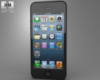 Apple iPhone 5 Black 3D Model