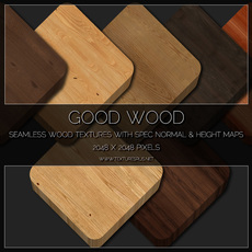 Good Wood. 25 Tiling Wood Textures With Spec Normal and Height Maps