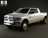 Dodge Ram 3500 Mega Cab Dually Laramie 6-foot 4-inch Box 2012 3D Model