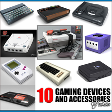 Gaming devices coll 1 3D Model