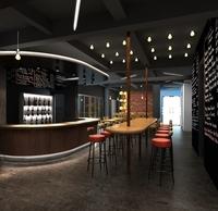 3D Model Bar Interior Scene 3D Model
