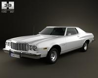 Ford Gran Torino hardtop 1974 3D Model