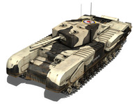 Churchill MK.III Kingforce  3D Model
