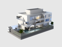 Luxury Contemporary House with Pool 3D Model