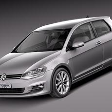 Volkswagen Golf VII 2013 3-door 3D Model