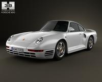 Porsche 959 1986 3D Model