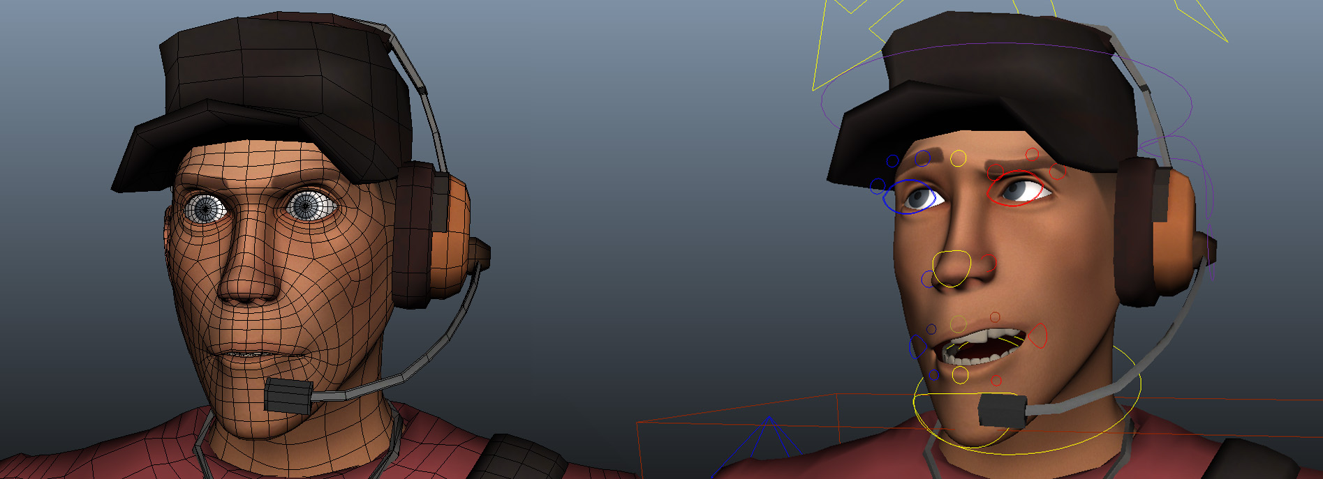 Team Fortress 2 Scout For Maya Free Character Rigs Downloads For