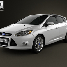 Ford Focus Hatchback Titanium 2012 3D Model