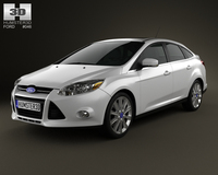 Ford Focus Sedan Titanium 2012 3D Model