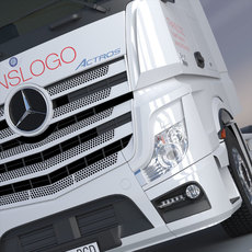 New Mercedes Actros MP4 GigaSpace 3D Model