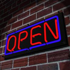 Neon Open Sign 3D Model