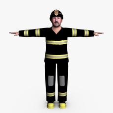 Fireman 02 3D Model