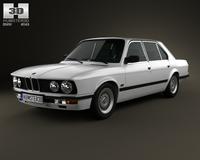 BMW 5 Series sedan (E28) 1987 3D Model