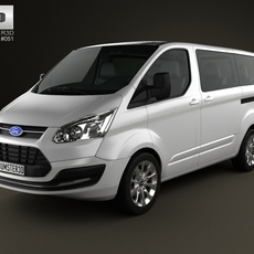Ford Tourneo Custom SWB 2012 3D Model