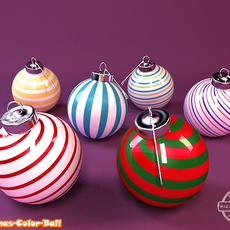 Christmas Color Ball 3D Model