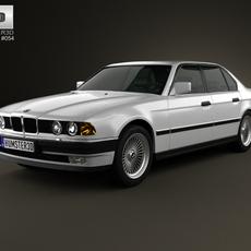 BMW 7 Series (E32) 1992 3D Model