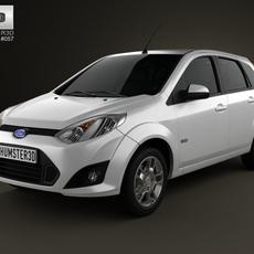 Ford Fiesta Rocam hatchback (Brazil) 2012 3D Model