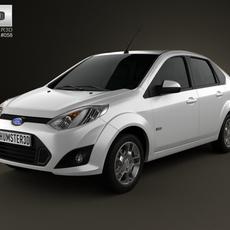 Ford Fiesta Rocam sedan (Brazil) 2012 3D Model