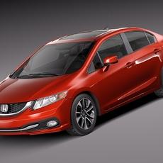 Honda Civic Sedan EX 2013 3D Model