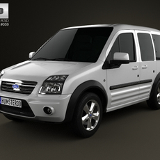 Ford Tourneo Connect SWB 2012 3D Model