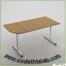 Replica Ikea Galant  Desk Combination 3D Model