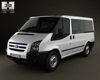 Ford Transit Tourneo SWB Low Roof 2012 3D Model