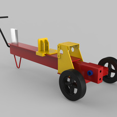 Log splitter chasis 3D Model