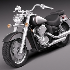 Honda Shadow Aero 750 2012 3D Model