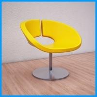 leather armchair 1 3D Model