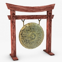 Ancient gong 3D Model