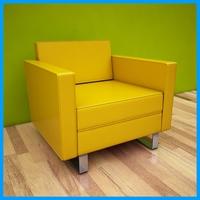 leather armchair 4 3D Model