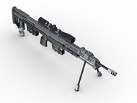 AMP DSR 1 Sniper Rifle 3D Model