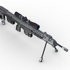 AMP DSR 1 Sniper Rifle 3D Model