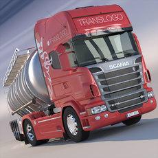 Scania R 730 V8 ADR Tanker truck 3D Model