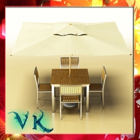 Exterior Bar Table, Chair, and Parasol. 3D Model