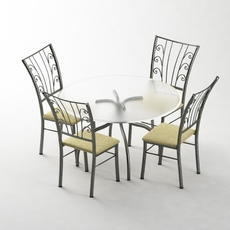 5 pc Dining Set 3D Model